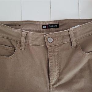 Denim - Lee tan pants